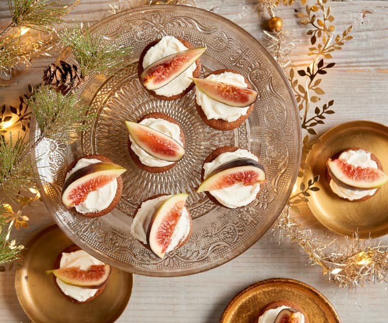 Ginger Snaps with Mascarpone and Figs