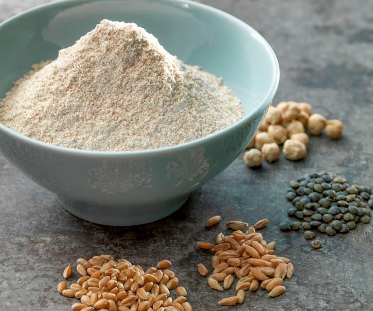 Mąka ze zmielonych ziaren zbóż