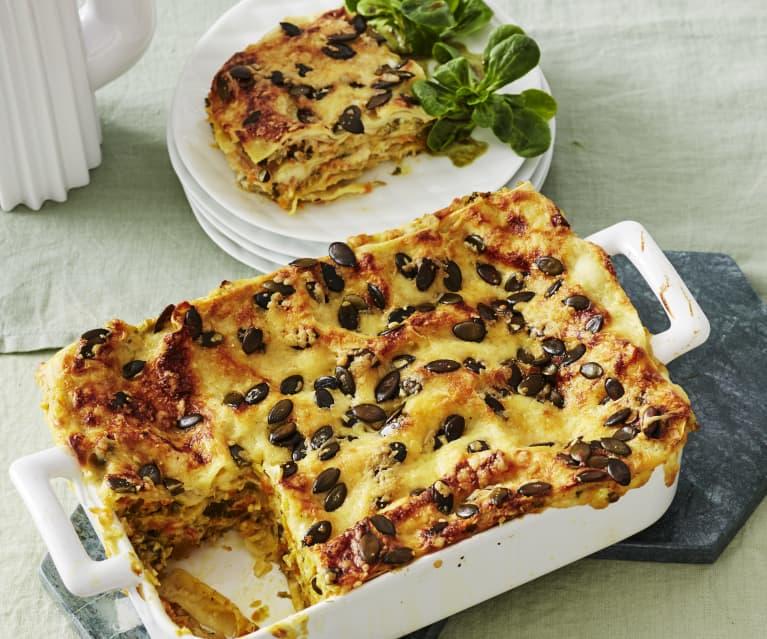 Möhren-Wirsing-Lasagne