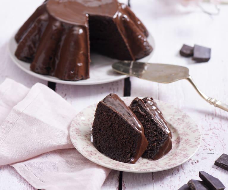 Kakaowa babka z Varomy z polewą czekoladową
