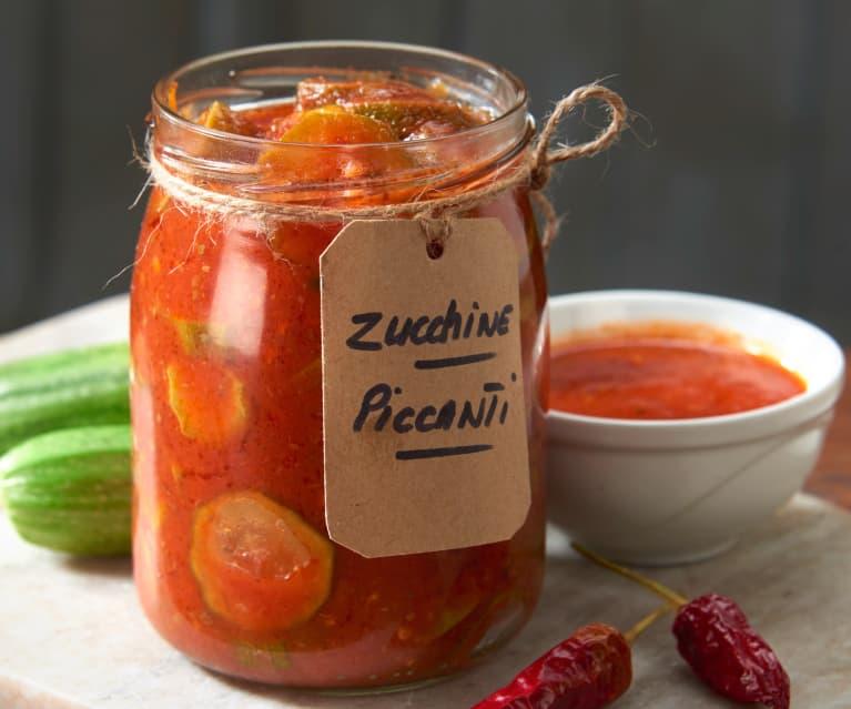 Conserva de calabacín picante con tomate