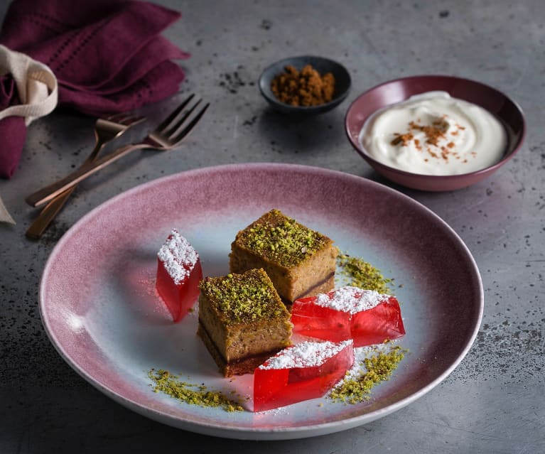 Chocolate love cake with Turkish delight jelly
