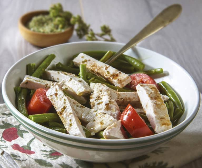Warm Turkey and Green Bean Salad