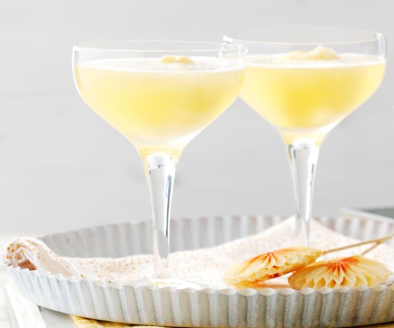 Orange Sorbet with Sparkling Wine