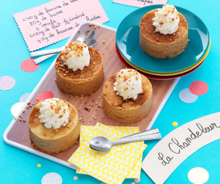 Petits gâteaux de crêpes à la pomme et au caramel