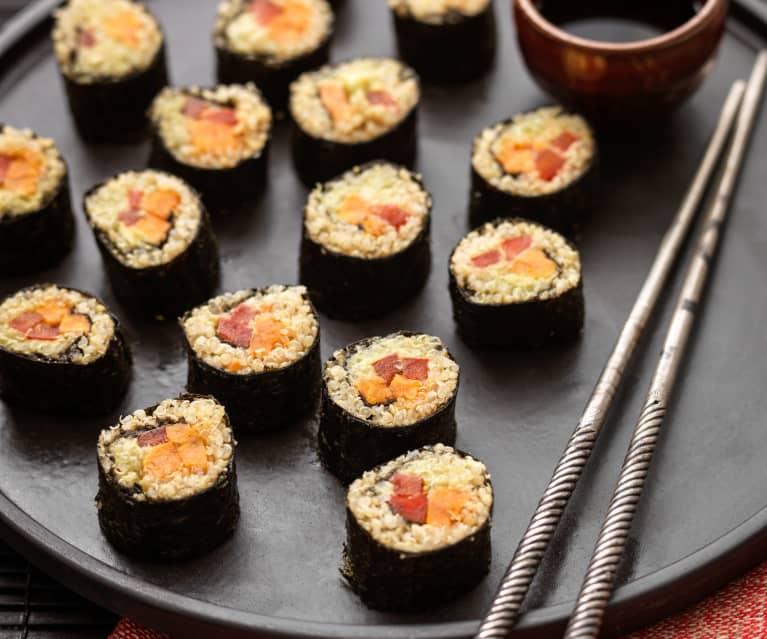 Roll di quinoa e patate dolci