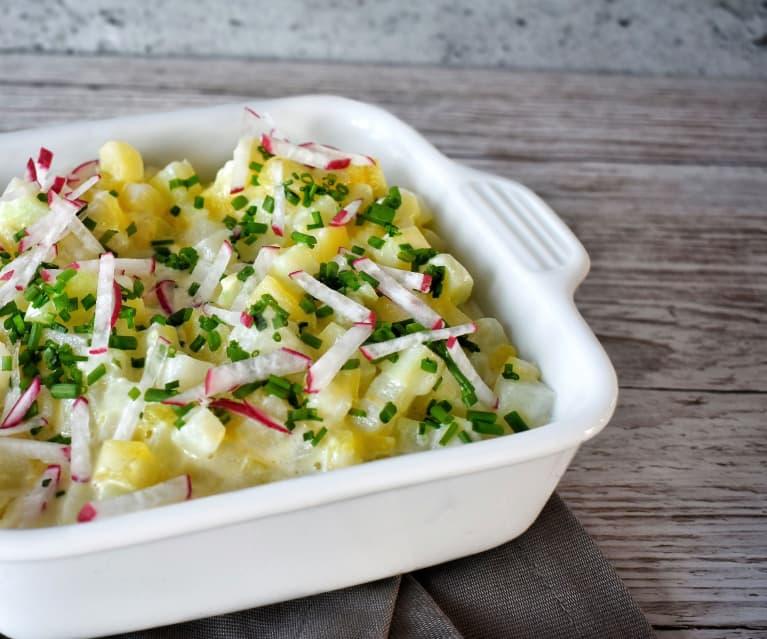 Kohlrabi Kartoffel Ragout mit Rupp Camembert