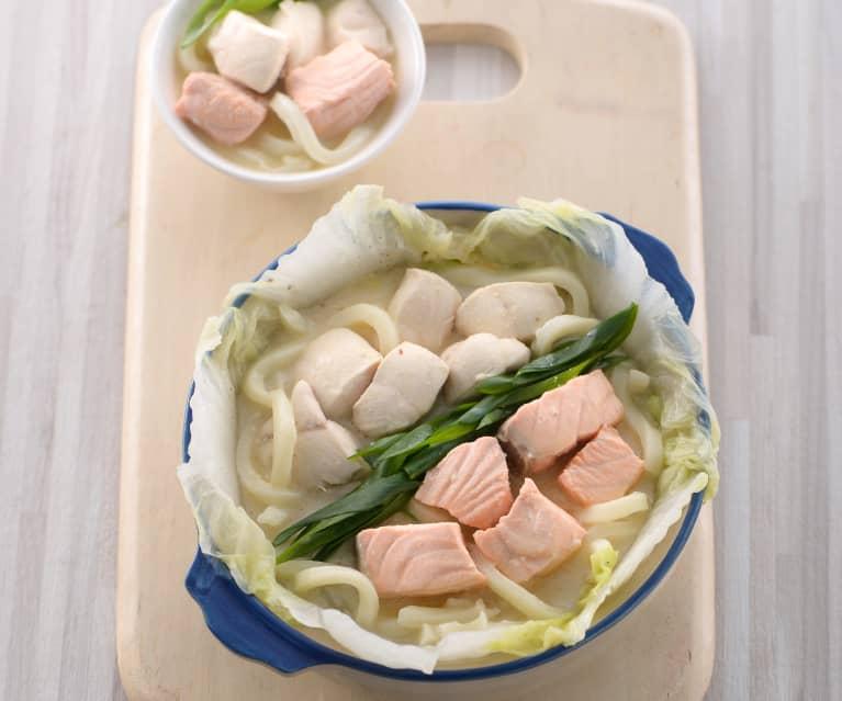 豆乳味噌海陸火鍋