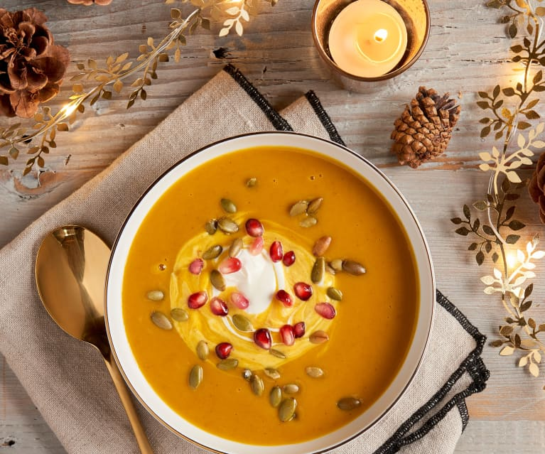 Curry, Ginger Kabocha Squash Soup