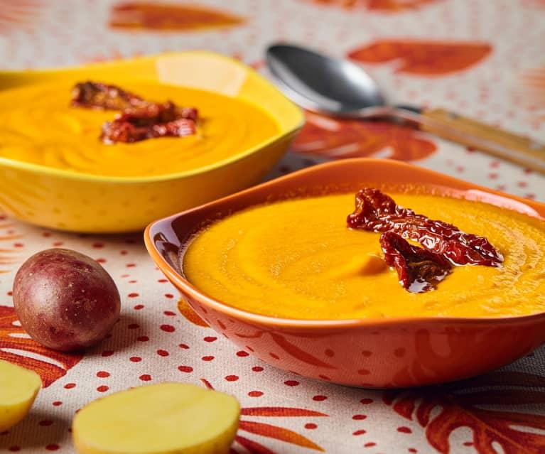 Vellutata di carote e pomodori secchi