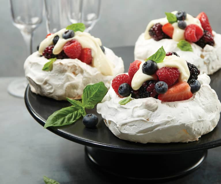 Meringue Clouds with Sabayon and Berries (Rosalyn Darling)