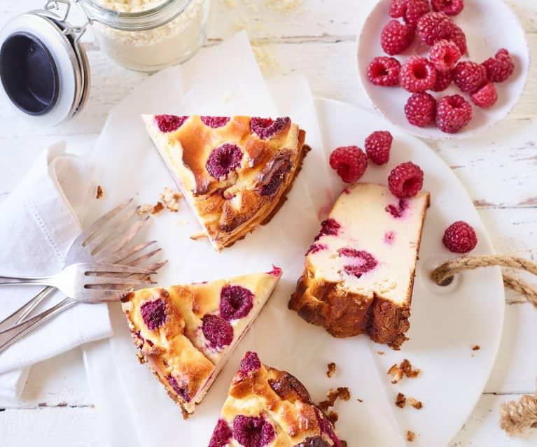 Cheesecake framboise à la poudre de protéine