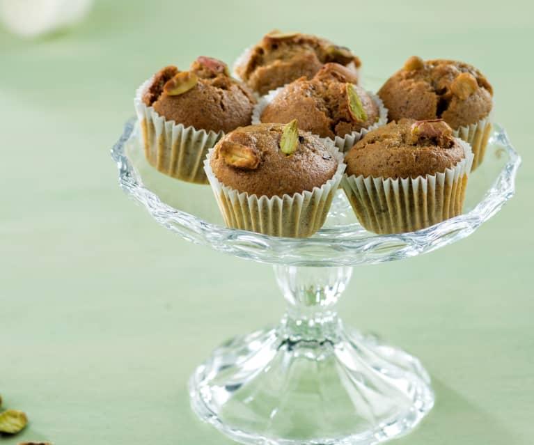 Minimuffins con pistachos y arándanos