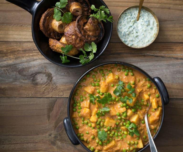 Potato and green pea curry