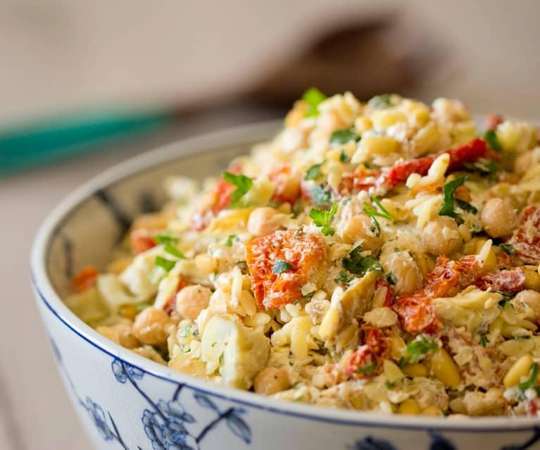 Risoni salad with artichoke and feta