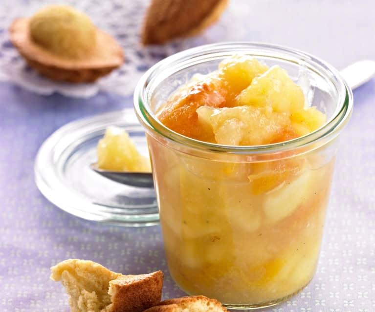 Compota de manzanas y peras