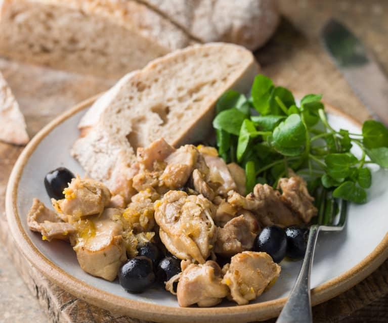 Rabbit in a Citrus Marinade with Black Olives and Thyme - Coniglio marinato agli agrumi con olive e timo
