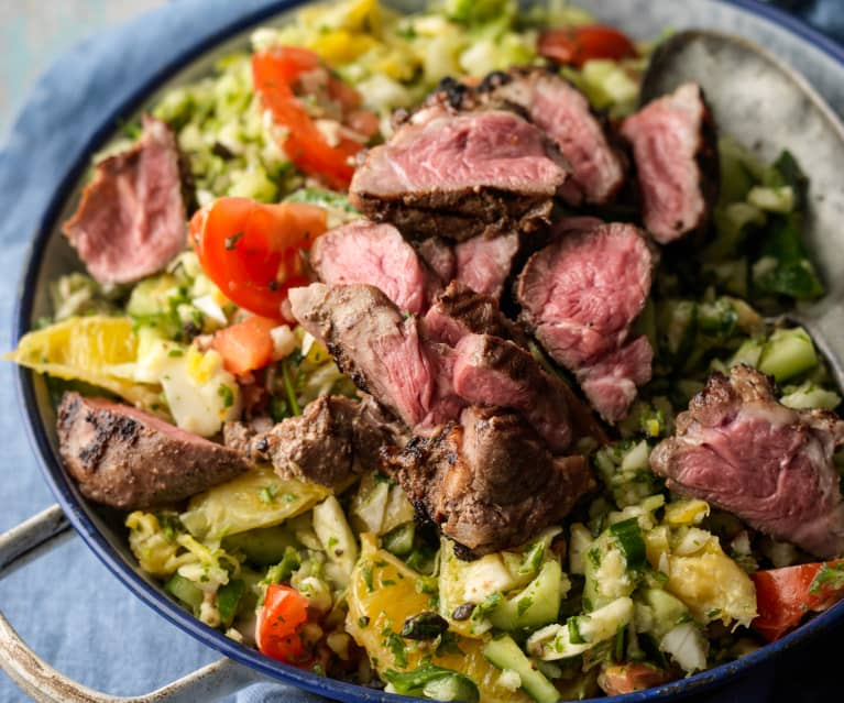 Moroccan Lamb with Chopped Salad