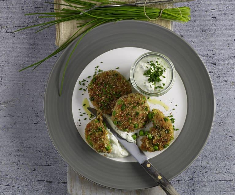 Gemüselaibchen mit Schnittlauchsauce