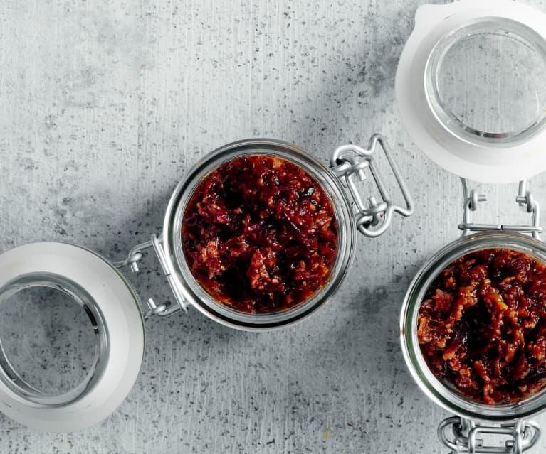 Bacon jam aux myrtilles