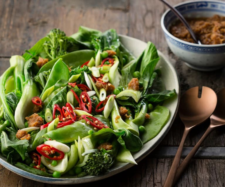 Chinese greens with XO sauce