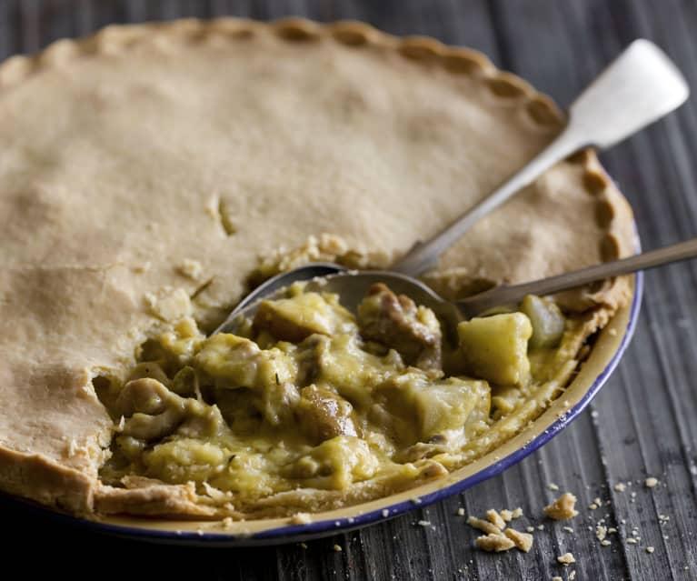 Gluten free chicken and pear pie