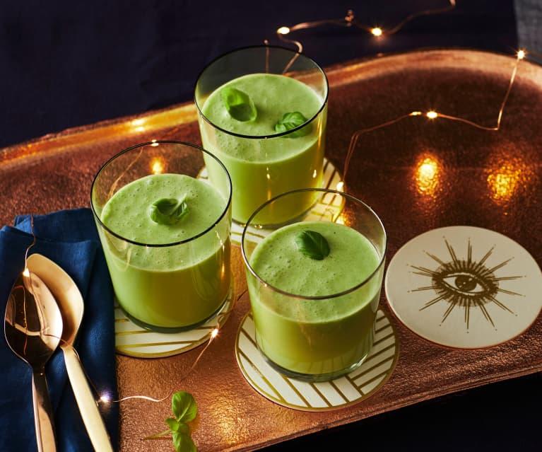 Kalte Erbsen-Basilikum-Suppe