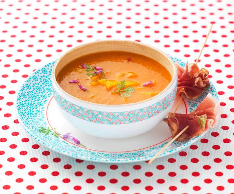 Soupe glacée de poivrons grillés