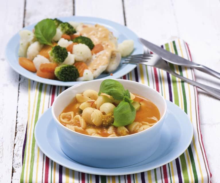 Zupa jarzynowa i danie na Varomie