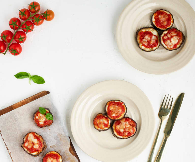 Mini-Auberginen-Pizzen