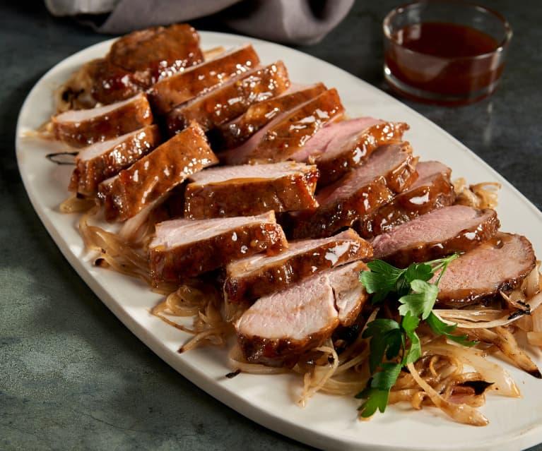 Sous-vide Pork Tenderloin with Ginger Glaze