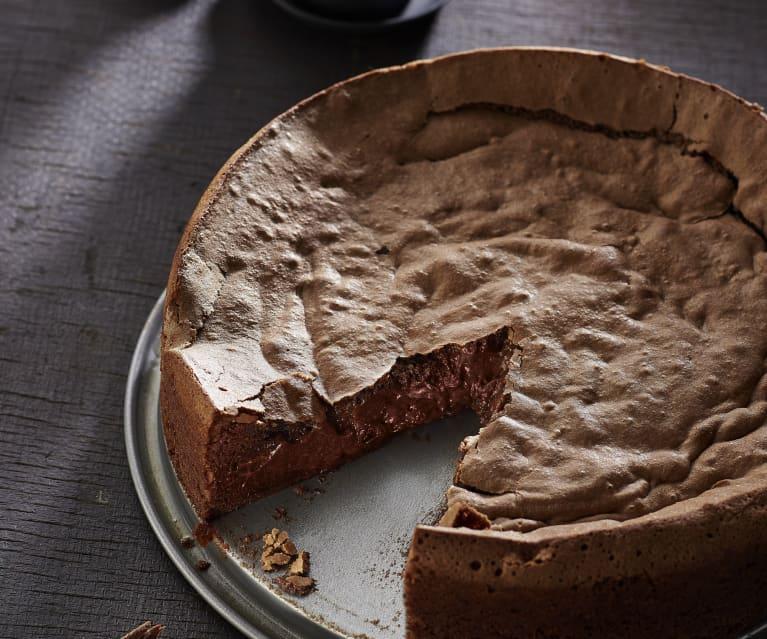 Schokoladenkuchen mit flüssigem Kern