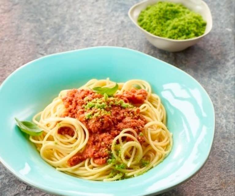 Sauce Bolognese mit Petersilien-Parmesan