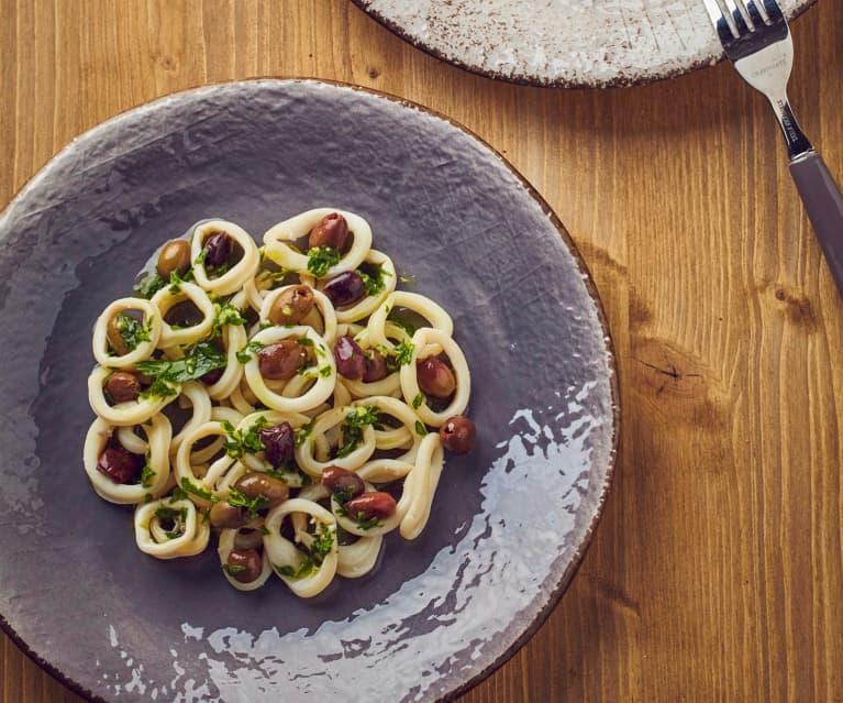 Calamari e olive taggiasche a Cottura Lenta