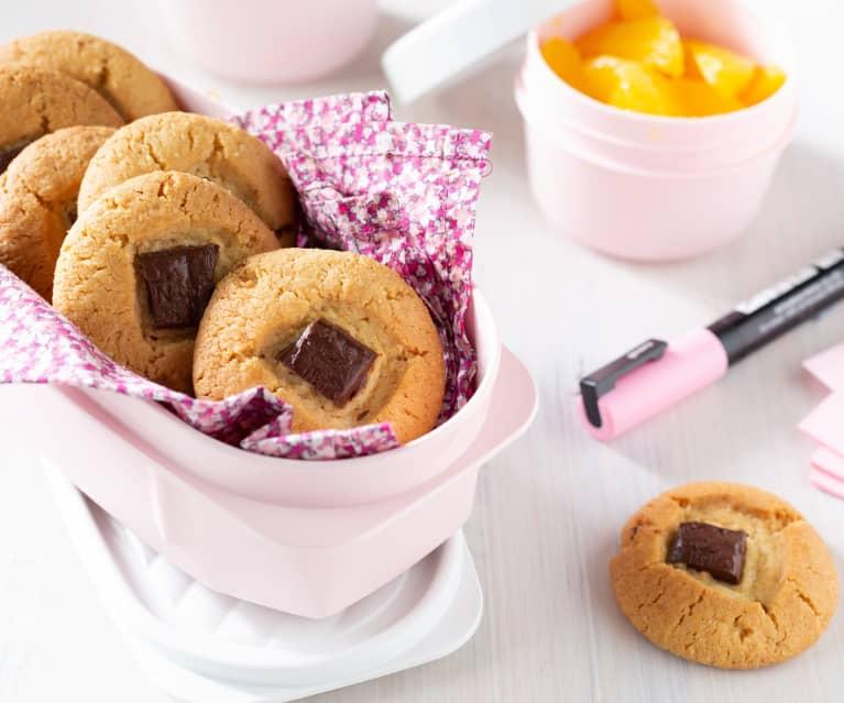 Galletas de almendra con chocolate negro