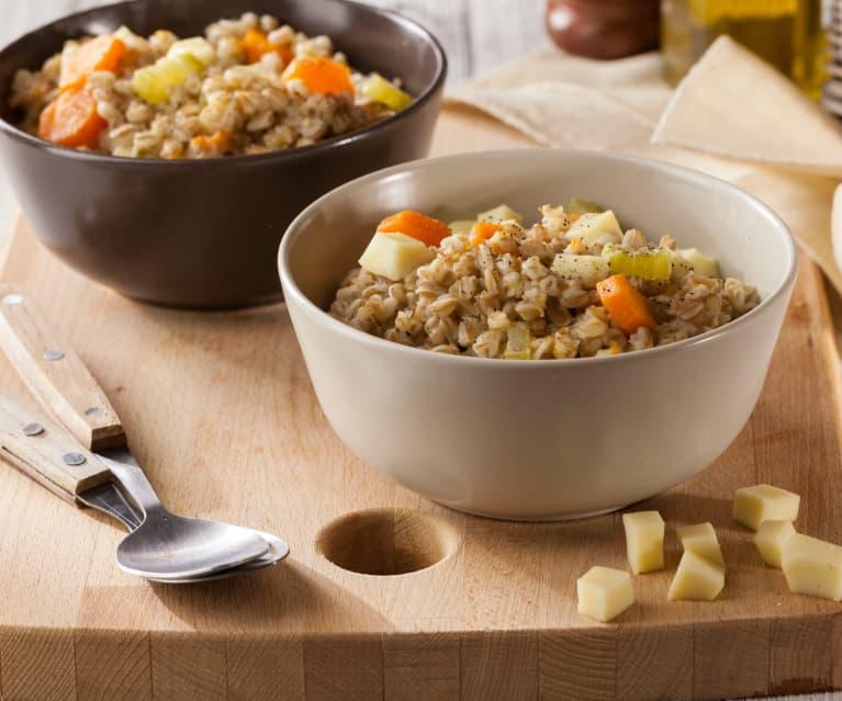 Espelta estilo risotto con verduras