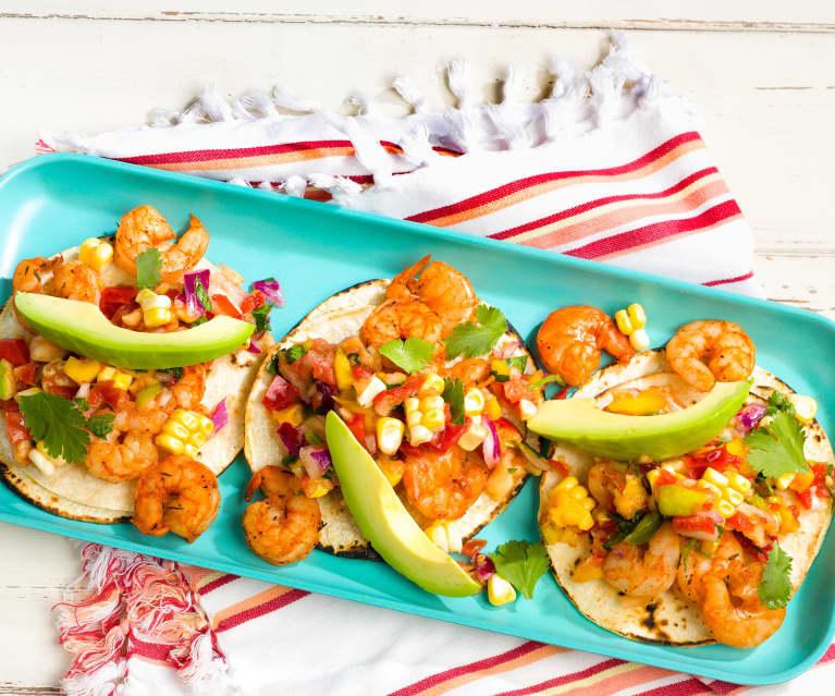 Shrimp Tacos with Denver Salsa