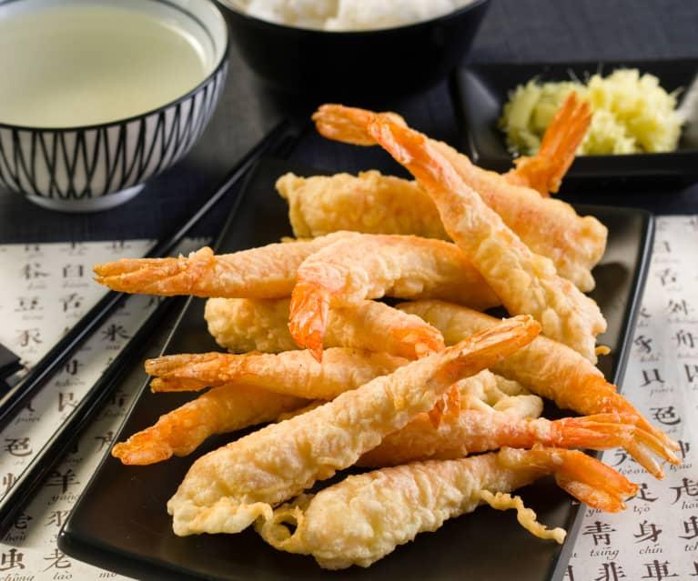 Ebi tempura (langostinos en tempura)