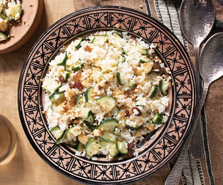 Ensalada de arroz con pepino, plátano y pasas (Chad)