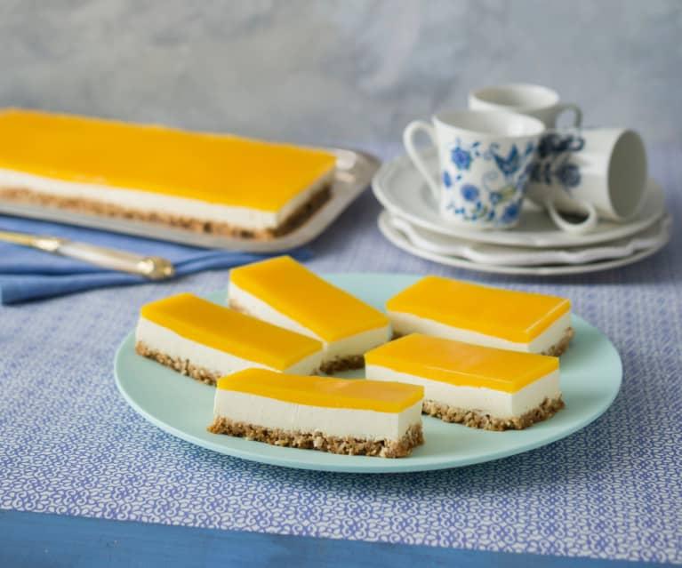 Mango and labne slice