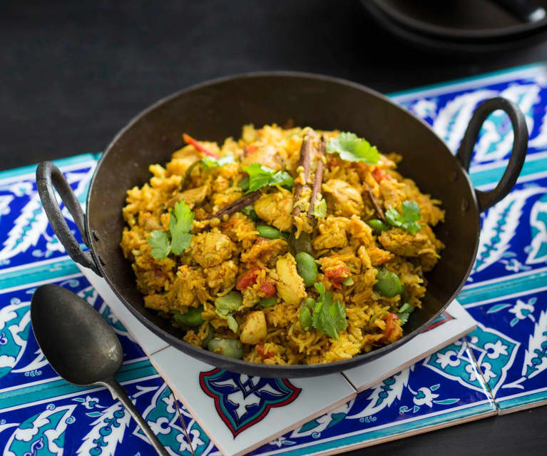 Aromatic chicken pilaf