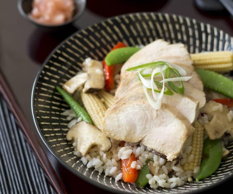 Miso chicken and rice