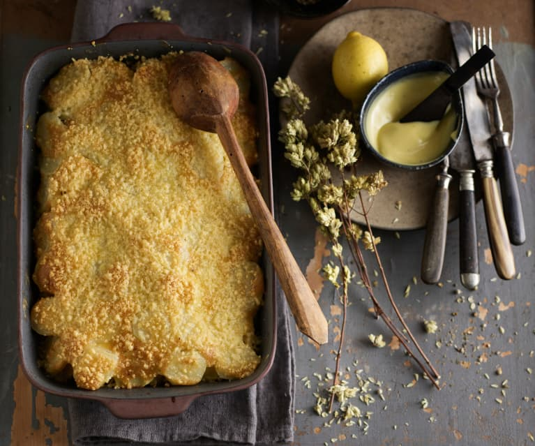 Bacalhau gratinado com maionese