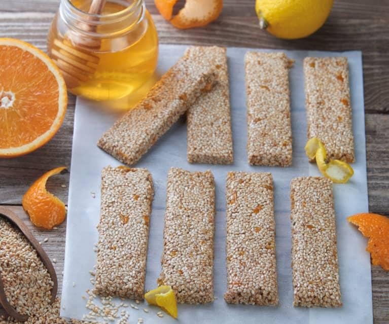 Sesame, Honey and Citrus Bars