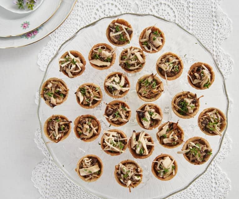 Mushroom quinoa tartlets with truffle oil