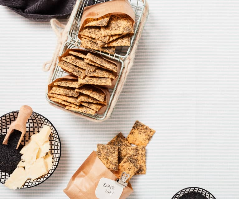 Parmesan-Sesam-Cracker