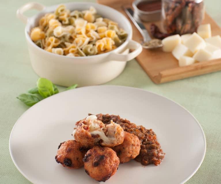 Kotlety (croquetas) z indyka nadziewane mozzarellą