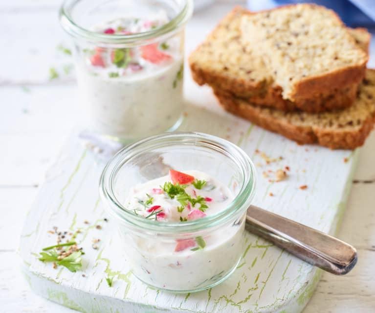 Crème à tartiner fromage frais-radis