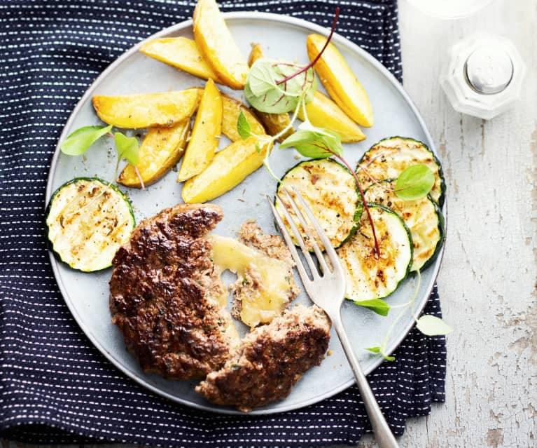 Steak haché au gruyère