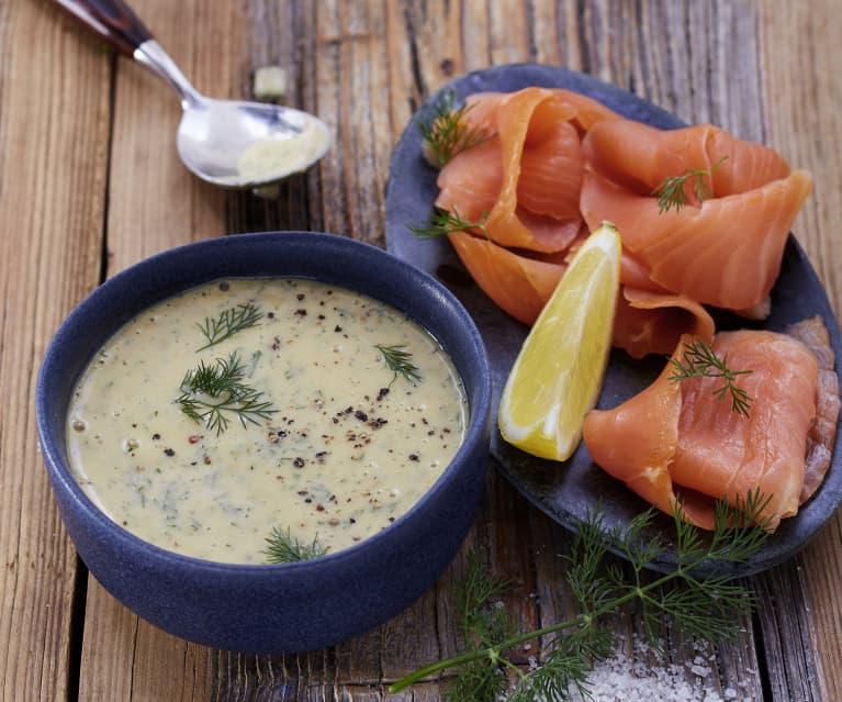 Senf-Dill-Sauce zu Lachs
